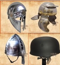 Greek Helmets,Medieval Helmets,Roman Helmets,Viking & Norman Helmets,World War Helmets