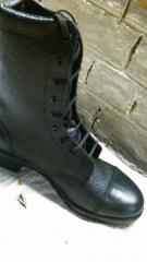 High Length Leather Boot Army