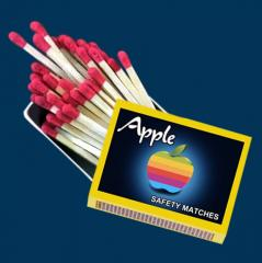 APPLE CARDBOARD SAFETY MATCHES