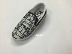 Les souliers les poumons en grosse toile