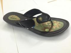 Ladies Flat PU Slippers
