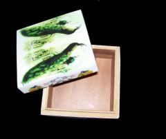 PEACOCK DIGITAL PRINT WOODEN BOX