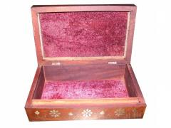 """WOODEN JEWELRY STORAGE BOX CARVING (10""""X"""