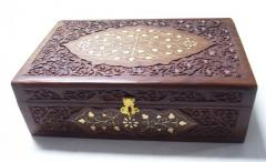 "WOODEN JEWELRY BOX CARVING DESIGN (12""X"