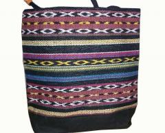 STRIPE DESIGN HANDLOOM BAG