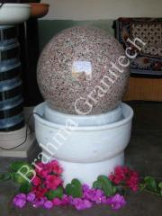 Rolling ball fountain,Rolling granite globe
