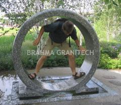 Granite ring fountain,rotating ring water