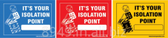 Preadhesive Lockout Labels