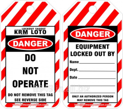 Lockout Tagout Safety Tags (Set of 10 Pcs)