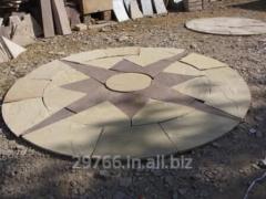 Brown sand stone circle