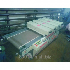 UV Curing System with 3 UV and IR Lamps
