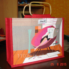 Small size red color jute bag