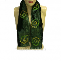 Hand Embroidery Velvet Silk Neck Scarf