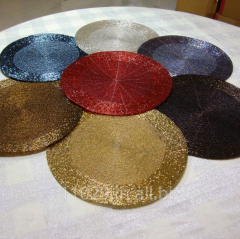 Set of 6 WiredBeaded 12 inches Round Placemat Chargers
