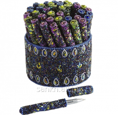 30 pc pen set Multicolor Peacock design lac pens with holder