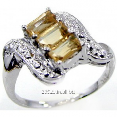 1.20 ctw Genuine Citrine .925 Sterling Silver Ring