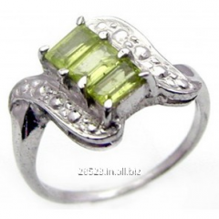 1.20 ctw Genuine Peridot .925 Sterling Silver Ring