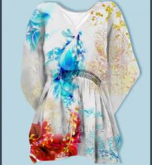 White color digital printed kaftan beautiful design kaftan