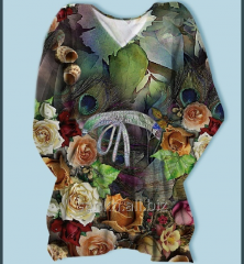 Rose Flower digital print kaftan