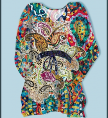 Paisley design digital print kaftan poly Georgette