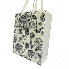 Cotton canvas bags with elephant paisley print