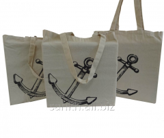 Cotton canvas bag with Anchor print