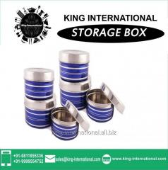 Stainless steel storage color full box set of 4