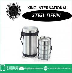 Steel Outer body with 4 microwave container inside