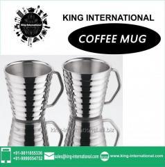 Steel coloured Coffee Mug Set of 2 pcs