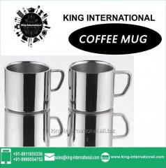 Steel Coffee Mug Set of 2 pcs