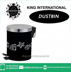 Black Pedal Dustbin Set of 1 pc