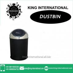 Black Push Dustbin Set of 1 pc