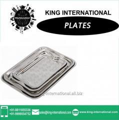 Rectangular plate set of 4 pcs