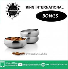 Steel coloured Bowls Set of 3 pcs