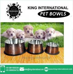 Brown Coloured Pet Bowls Set of 3 pcs