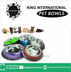 Multicolour Pet Bowls Set of 5 pcs