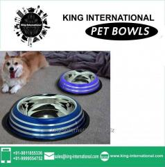 Blue Pet Bowls Set of 2 pcs