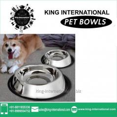 Stainless Steel Dog Bowls Set of 2 pcs