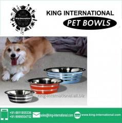 Multicolour Pet Bowls Set of 3 pcs