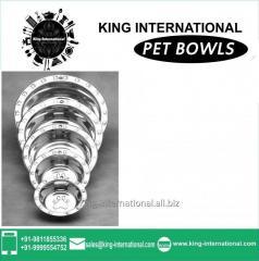Steel colour Pet Bowls Set of 5 pcs