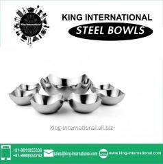 Steel coloured Bowls Set of 6 pcs