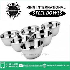 Steel Bowls/Katori Set of 6 pcs