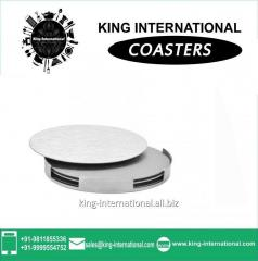 Round Coaster Set With Stand