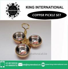 Copper Pickle Set