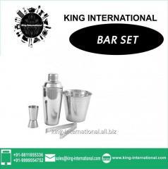 Stainless Steel Plain Bar Set of 4 pcs