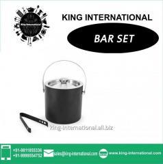 Black Ice Bucket  & Tong Set of 2 pcs