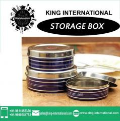 Blue Storage Box Set of 3 pcs