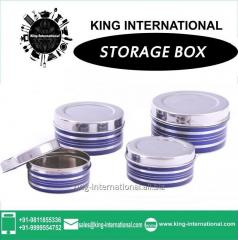 Blue Storage Box Set Of 4 Pcs