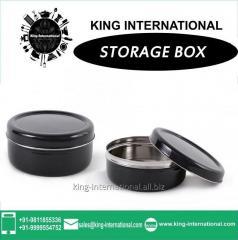 Black Storage Box Set Of 2 Pcs
