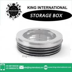 Black Storage Box With Glass Lid